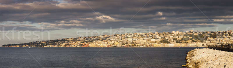 Naples panorama at sunrise Stock photo © benkrut