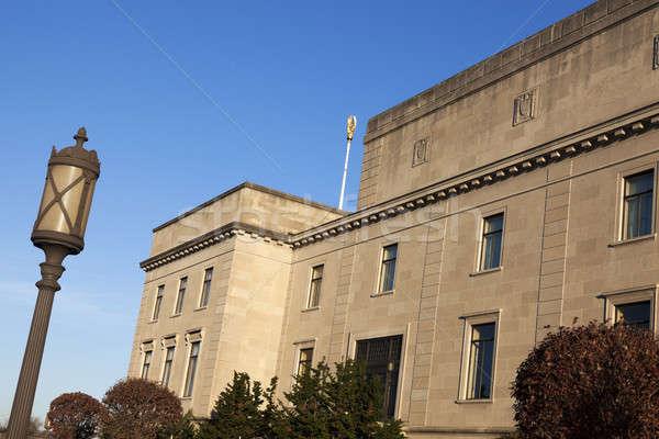 Arhitectura veche New Jersey birou oraş albastru călători Imagine de stoc © benkrut