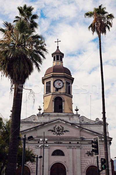 Stock photo: Church in downtown of Santiago, Chile