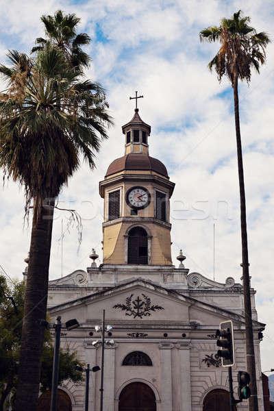 教会 タウン サンティアゴ チリ 建物 ストックフォト © benkrut