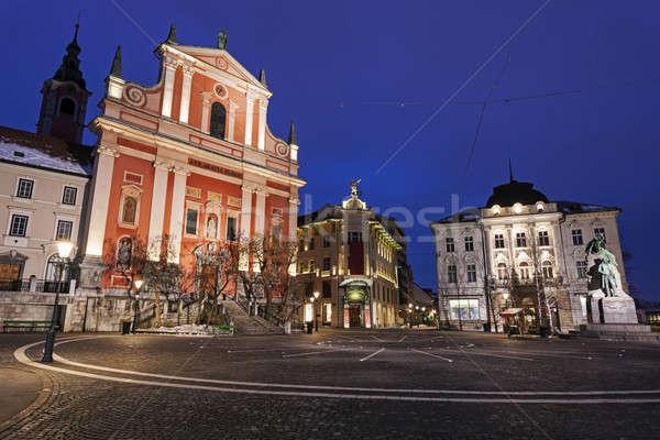 Franciscan Church in Ljubljana Stock photo © benkrut