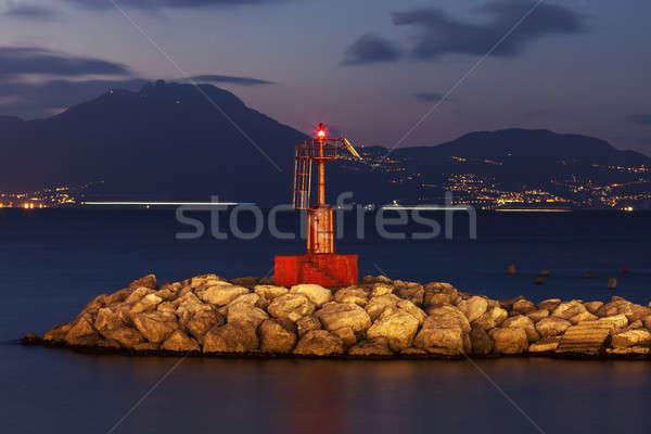 Naples lighthosue Stock photo © benkrut
