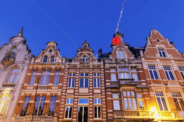 Colorful houses on Grote Markt in Mechelen Stock photo © benkrut
