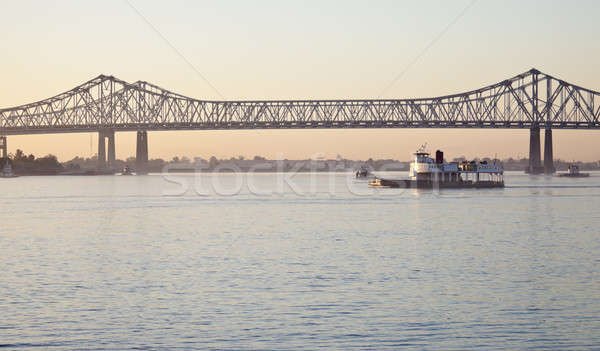 Bridge on Mississippi River Stock photo © benkrut