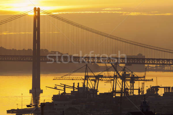 25th of April Bridge in Lisbon  Stock photo © benkrut