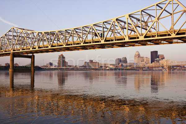 Yellow bridge in Louisville Stock photo © benkrut