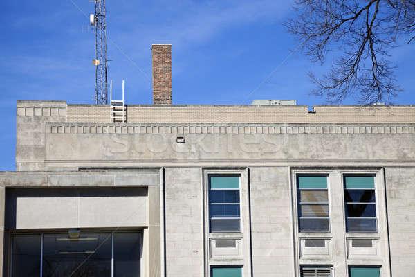 Administración ventana piedra arquitectura historia EUA Foto stock © benkrut