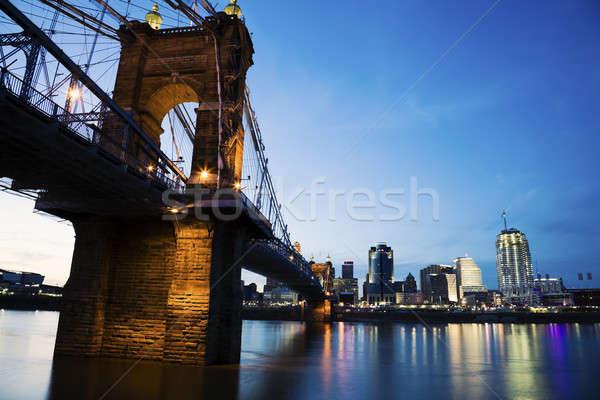 Cincinnati and Ohio River   Stock photo © benkrut