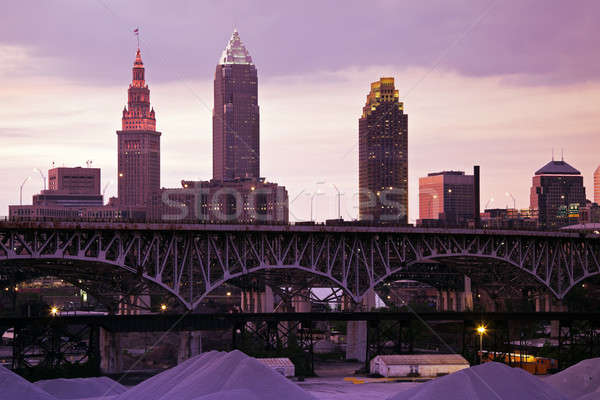 Sunset in Cleveland  Stock photo © benkrut