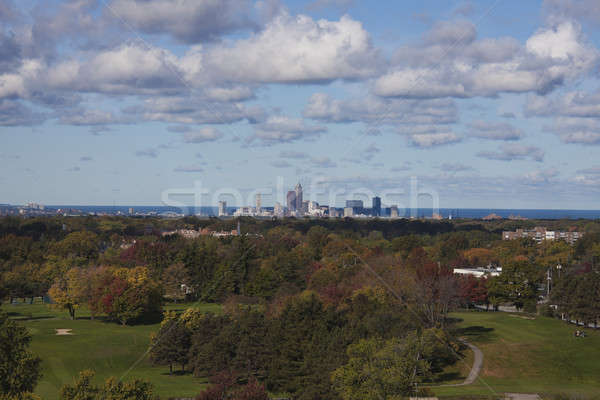 Cleveland - distant skyline Stock photo © benkrut
