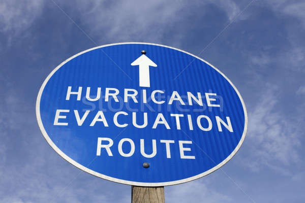 Hurricane evacuation route sign Stock photo © benkrut