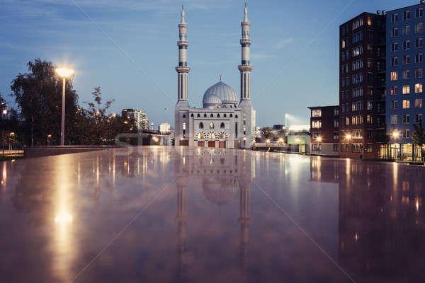 Mecset Rotterdam dél Hollandia Hollandia égbolt Stock fotó © benkrut