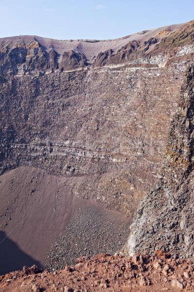 Vulkaan krater natuur reizen skyline Stockfoto © benkrut