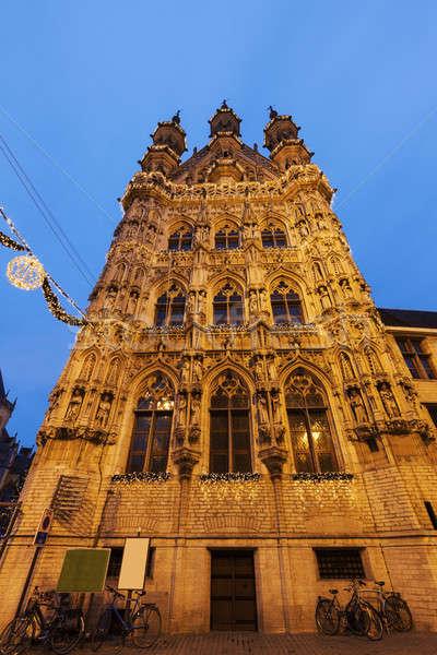 Leuven City Hall on Grote Markt Stock photo © benkrut