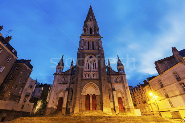 St Nicholas Church in Nantes Stock photo © benkrut