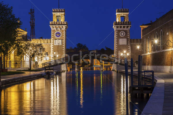 Arsenal Buildings and bridge in Venice Stock photo © benkrut