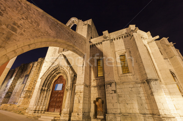 Stock photo: Carmo Convent in Lisbon