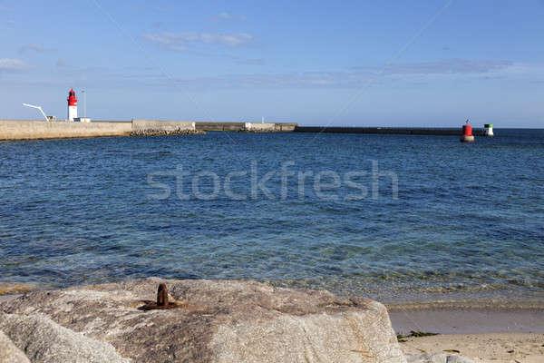 Stok fotoğraf: Deniz · feneri · uzak · görmek · mavi · seyahat · kasaba