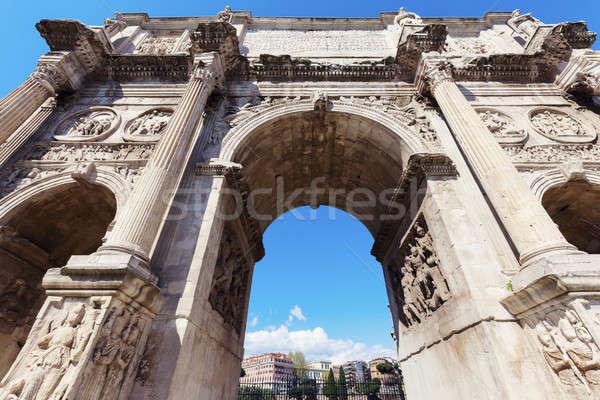 ív Róma égbolt épület utca kék Stock fotó © benkrut