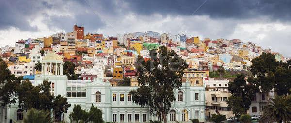 Kleurrijk architectuur san juan Spanje huis Stockfoto © benkrut