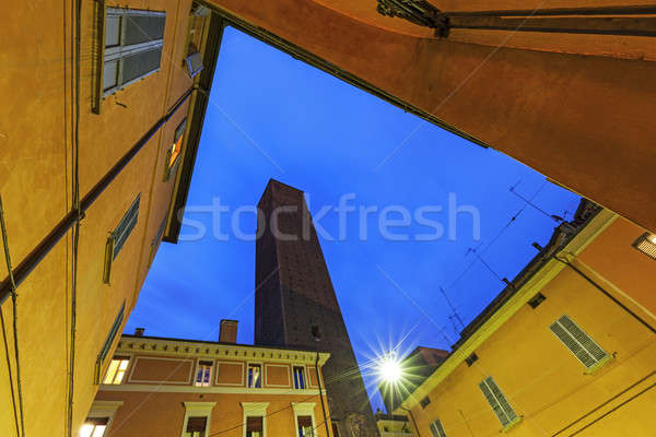Tower Prendiparte or Coronata in Bologna Stock photo © benkrut