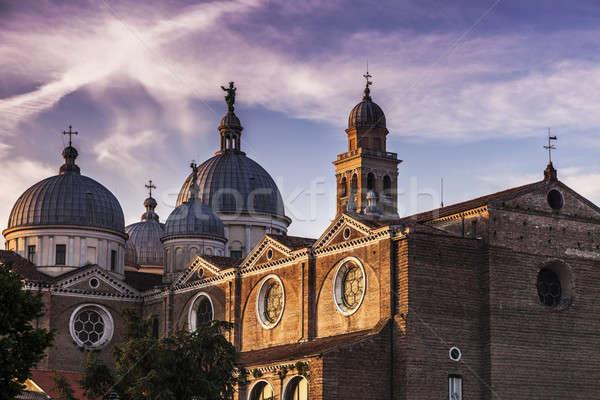 Abdij kerk reizen zonsopgang skyline Stockfoto © benkrut