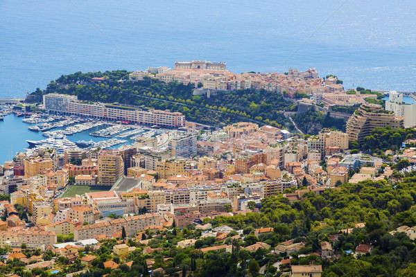 Монако архитектура антенна Панорама город лодка Сток-фото © benkrut