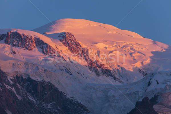 Mt. Blanc seen from Chamonix Stock photo © benkrut