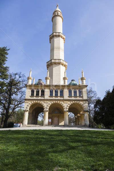 Minaret in Lednice. Lednice, South Moravia, Czech Republic.  Stock photo © benkrut