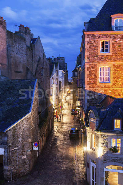 St-Malo - street in old town Stock photo © benkrut