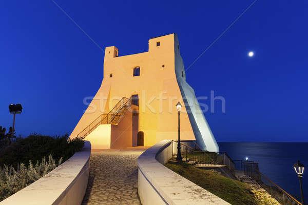 Truglia Tower in Sperlonga at night Stock photo © benkrut