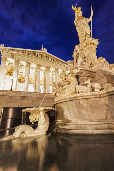ストックフォト: 議会 · オーストリア · ウイーン · 市 · 青 · 旅行