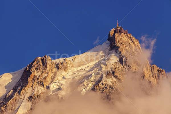 Alps peaks in Chamonix area - Aiguille du Midi Stock photo © benkrut