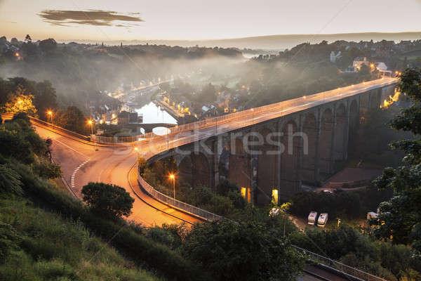 Panorama of Dinan Stock photo © benkrut