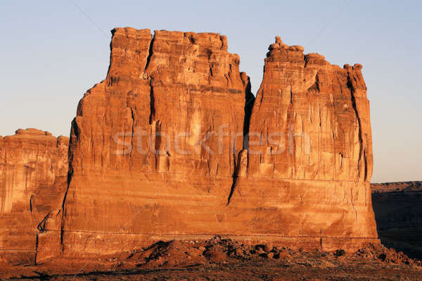 Courthouse Towers, Arches National Park Stock photo © benkrut