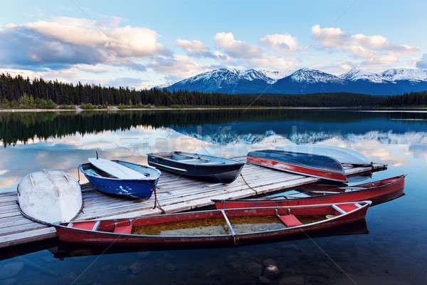 Lake in Jasper National Park Stock photo © benkrut
