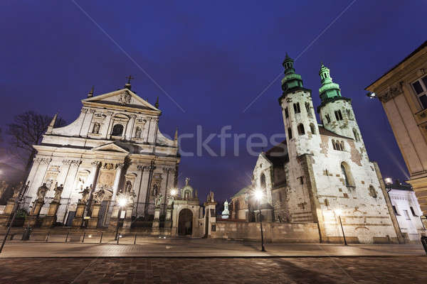 Church of Saints Apostles Peter and Paul and Saint Andrew's Chur Stock photo © benkrut