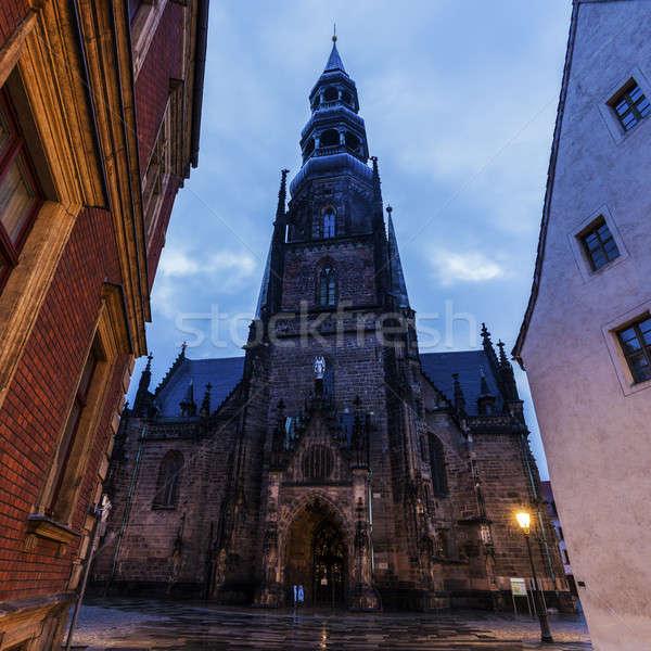 Linha do horizonte arquitetura europa religião cityscape centro da cidade Foto stock © benkrut