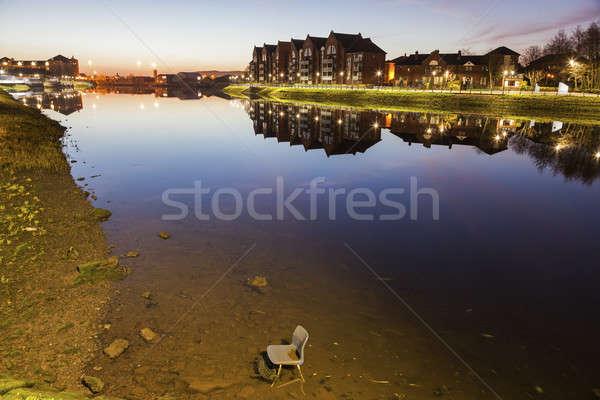 Belfast architecture along River Lagan Stock photo © benkrut