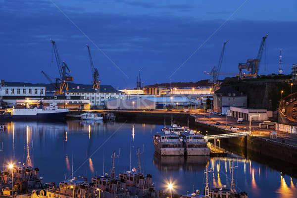 Port in Brest Stock photo © benkrut