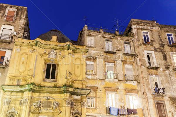 Foto stock: Arquitetura · Nápoles · colorido · casa · edifício · rua