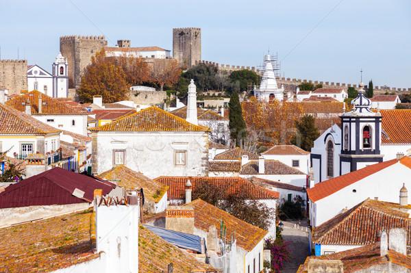 Cidade velha centro parede igreja castelo linha do horizonte Foto stock © benkrut