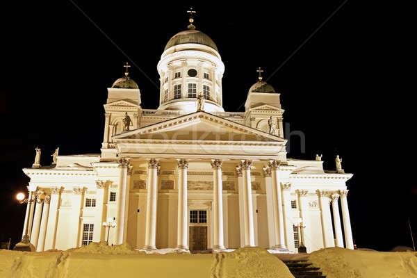 Black Night in Helsinki Stock photo © benkrut