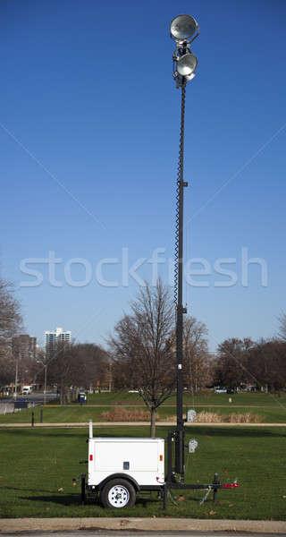 Portátil equipamentos de iluminação céu luz urbano lâmpada Foto stock © benkrut