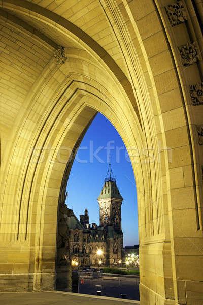 Kanada parlamento Bina Ottawa ontario Stok fotoğraf © benkrut