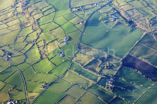 Aerial view of Northern Ireland Stock photo © benkrut