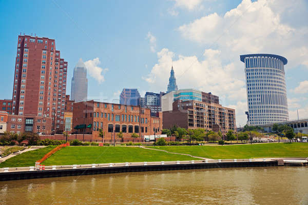 Cuyahoga River in Cleveland Stock photo © benkrut