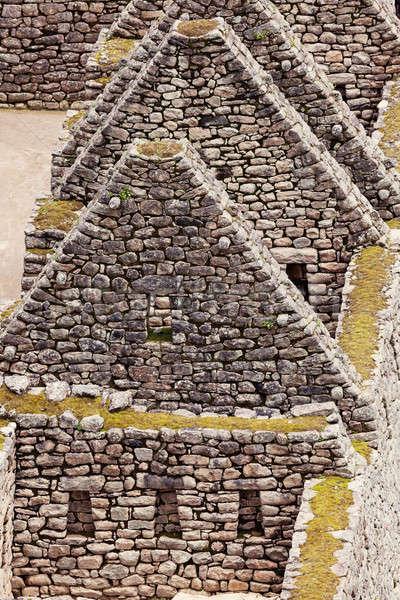 Stock fotó: Machu · Picchu · Peru · felhő · ősi