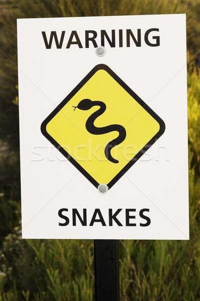 Snake warning sign   Stock photo © benkrut