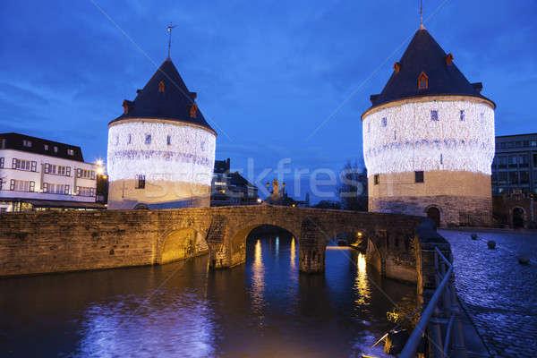 Broel Towers Bridge in Kortrijk Stock photo © benkrut